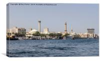 Old Dubai, viewed from the creek, Canvas Print