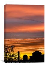 Silk Mill Sunset, Canvas Print