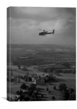 Overflying Downton Abbey, Canvas Print