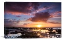 Derrymore Strand at Sunset, Dingle Peninsula, Canvas Print