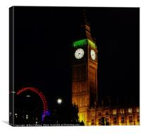 Big Ben at Night, Canvas Print