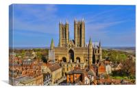 Lincoln Cathedral , Canvas Print