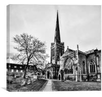 Oundle Church, Canvas Print