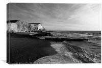 Seaford Head Monochrome East Sussex, Canvas Print