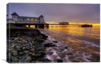 Penarth Pier Sunrise, Canvas Print