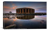 Aberthaw Power Station Water outlet, Canvas Print