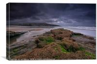 Dunraven Bay , Canvas Print