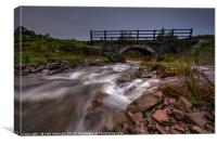Valley Bridge in the Brecon Beacons , Canvas Print
