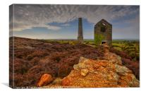 Pumphouse and Chimney, Parys Mountain, Anglesey , Canvas Print