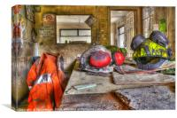 Urbex / Abandoned Colliery Office, Canvas Print
