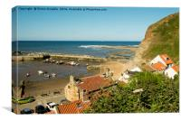 Staithes Summer Seaside, Canvas Print