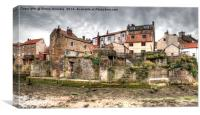 Old Staithes Houses, Canvas Print