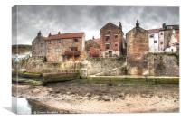 The Beck, Staithes, Canvas Print