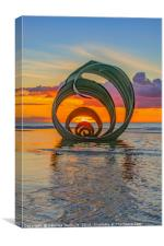 Mary's Shell at sunset , Canvas Print
