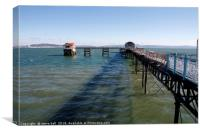 Mumbles pier and RNLI lifeboat station, Swansea, Canvas Print