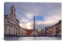 Piazza Navona After The Storm, Canvas Print