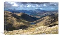 View From the Summit of Scafell Pike, Canvas Print