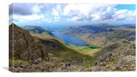 Wast Water Panorama, Canvas Print
