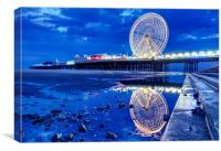 Central Pier Reflections, Canvas Print
