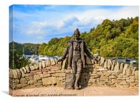 Tom Weir on the shores of Loch Lomond, Canvas Print