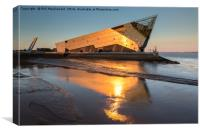 The Deep in Hull, Golden Sunset on the Humber, Canvas Print