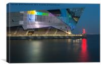 The Deep in Hull, Test Screen on the Humber, Canvas Print