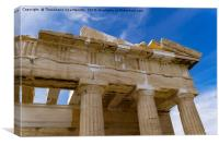 Athens Acropolis Parthenon temple detail., Canvas Print