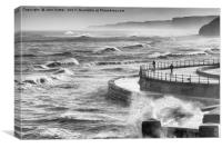 Storm Force Scarborough, Canvas Print