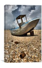 Old Dungeness Fishing Boat, Canvas Print