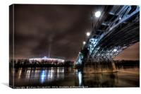 National Stadion, Poniatowski Bridge, Warsaw, Canvas Print