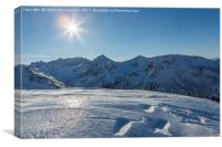 Winter mountain landscape, Tatry Mountains, Canvas Print
