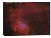 Flamin Star nebula (IC 405) in the constellation A, Canvas Print