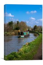 Cruising the canal, Canvas Print