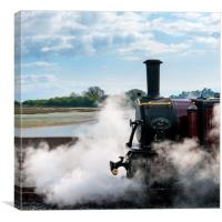 Steam and clouds, Canvas Print