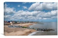 Southwold beach chalets, Canvas Print