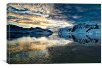 Antarctic morning., Canvas Print