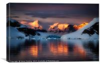 Golden Antarctic, Canvas Print