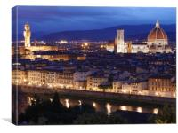 Florence at dusk, Canvas Print