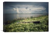 Old boat , Canvas Print
