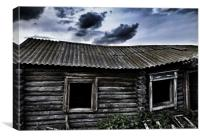Old wood house, Canvas Print