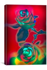 Neon roses, Canvas Print