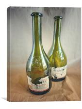 Two wine bottles, Canvas Print