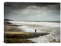The Storm at Amroth, Canvas Print