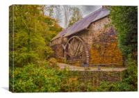 The Water Wheel at Dyfi Furnace., Canvas Print