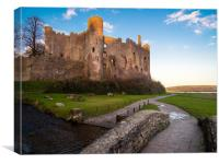 Magical Laugharne Castle., Canvas Print