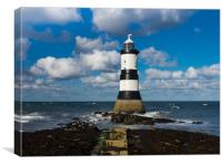 Steps to Penmon Lighthouse., Canvas Print