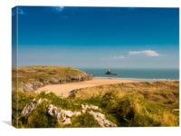 Broadhaven Beach, Pembrokeshire., Canvas Print