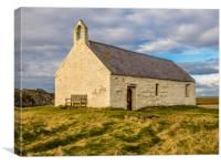 St Cwyfan's Church. Anglesey., Canvas Print