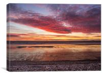 Glorious Sunset at Newgale., Canvas Print