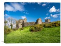 Llansteffan Castle, Carmarthenshire., Canvas Print